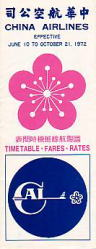 China Airlines 1972/06